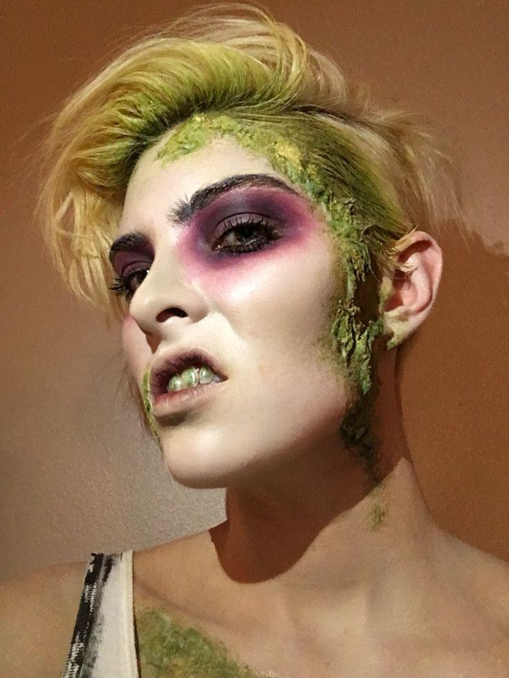 Beetlejuice character makeup by Mikaela Kester  Instagram: @mikaelamua