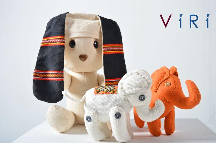 Stuffed toys - Rabbit & elephants set #VIRI #KIDS #TOYS #ANIMALS