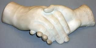 """The Clasped Hands of Gerrit & Ann Smith"" (marble), have been identified as work of Edmonia Lewis."