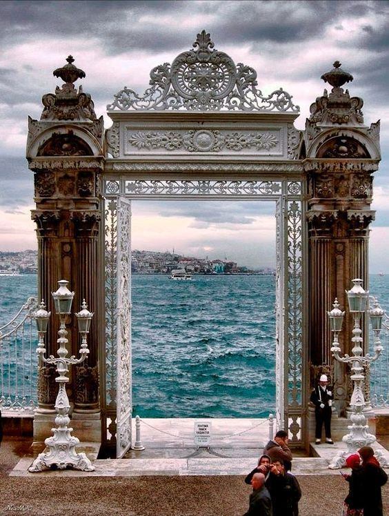 """Architecture on Twitter: """"Gate to heaven? - Dolmabahce Palace, Istanbul, Turkey https://t.co/qxraNDLAQq"""""""