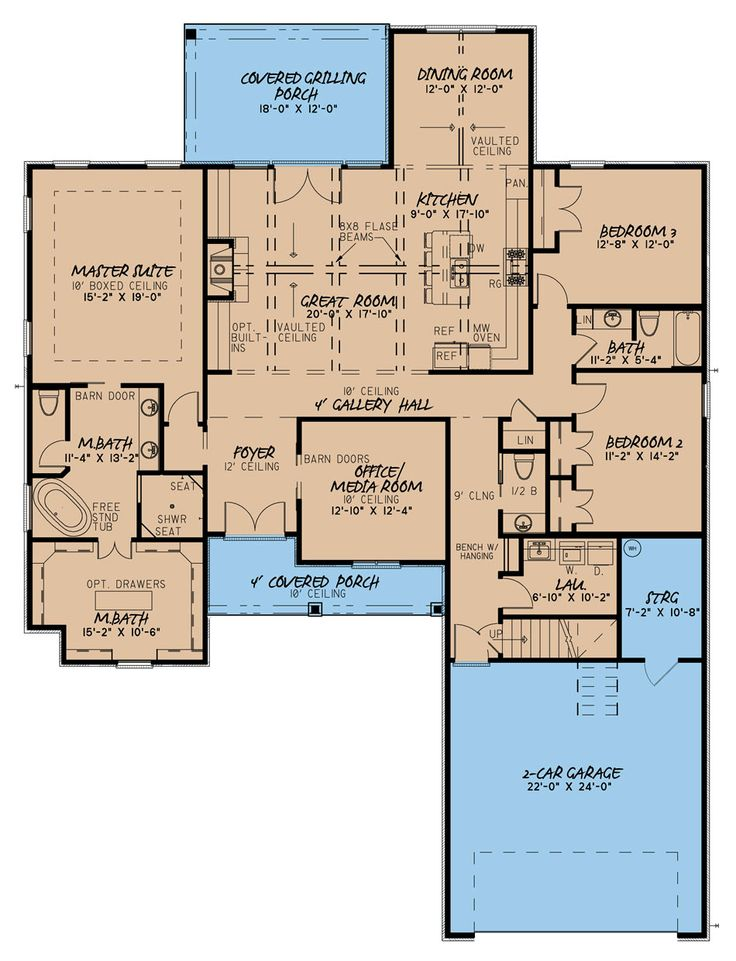 4 bedrm 2500 sq ft southern house plan 1931041 best