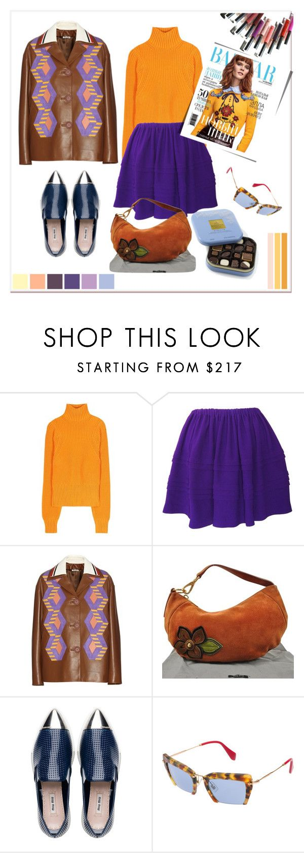 """""""Pre-owned pleated Miu Miu skirt!"""" by faten-m-h ❤ liked on Polyvore featuring Victoria Beckham, Miu Miu, Disney, women's clothing, women, female, woman, misses and juniors"""