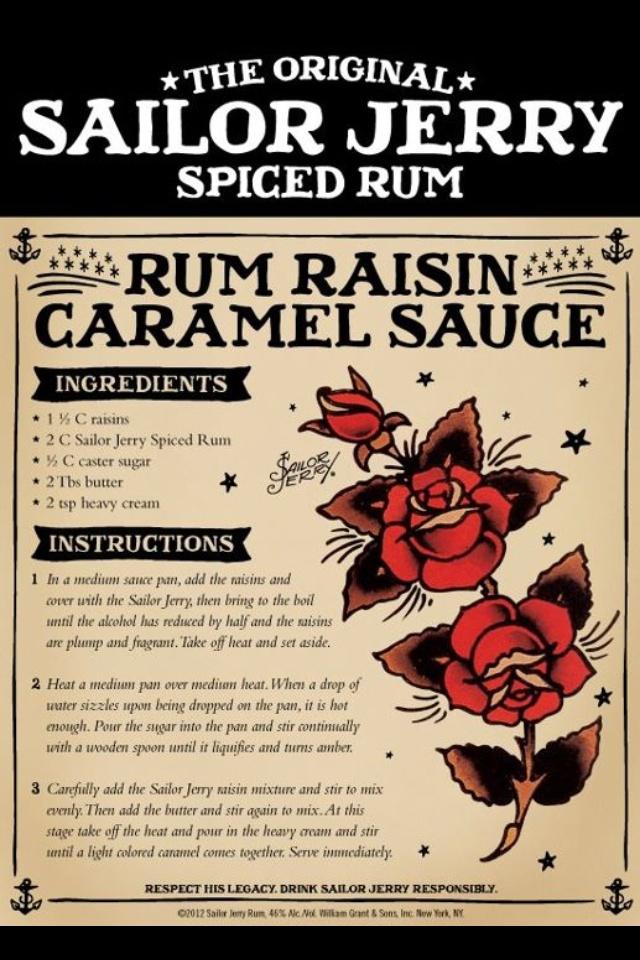 Sailor Jerry Rum Raisin Caramel Sauce