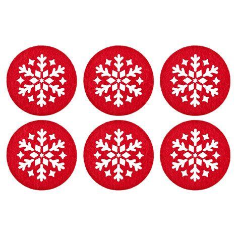 Sottobicchieri Tondo Fiocco di Neve (Set da 6) - Sala da Pranzo - Collection - Natale | Zara Home Italia