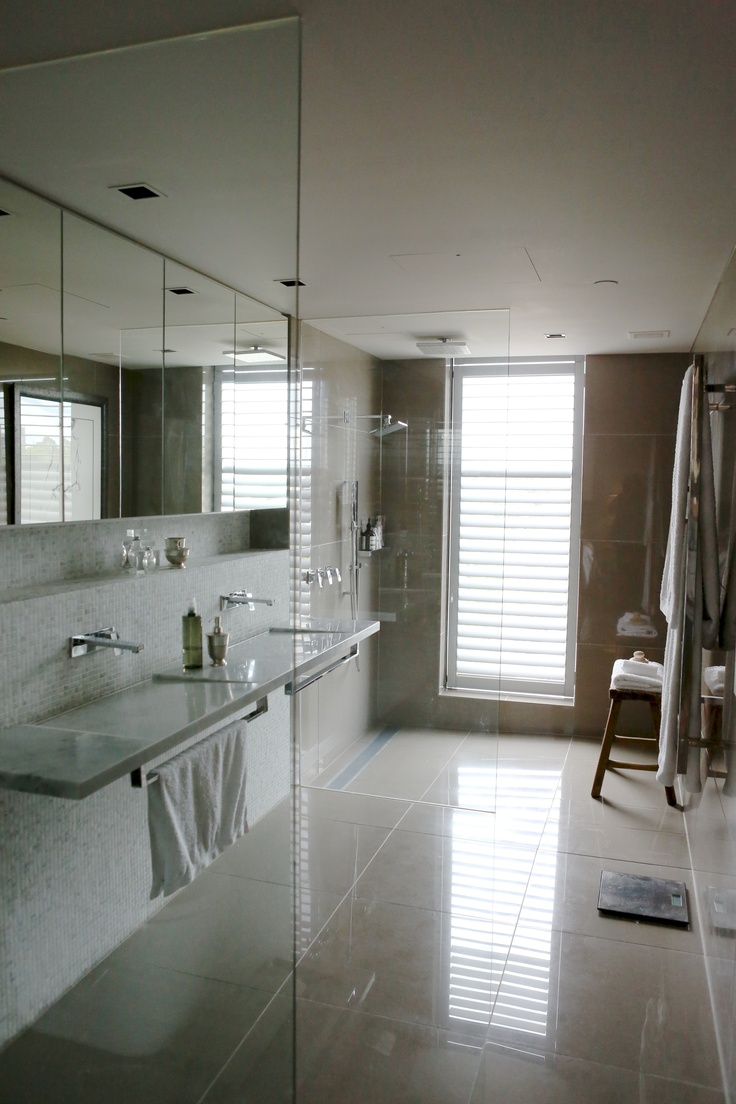 Master bedroom ensuite from inner city Melbourne apartment by Beautiful Room.