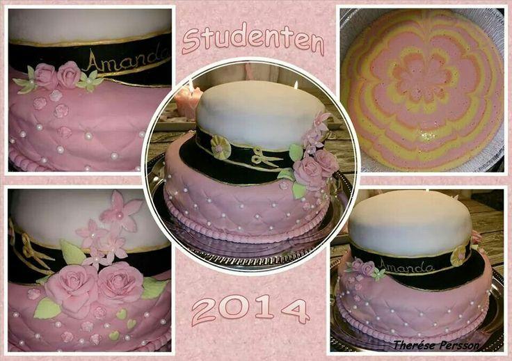 Dotterns studenttårta som hon fick av mig.