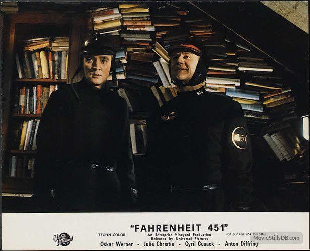 Fahrenheit 451 lobby card with Oskar Werner & Cyril Cusack