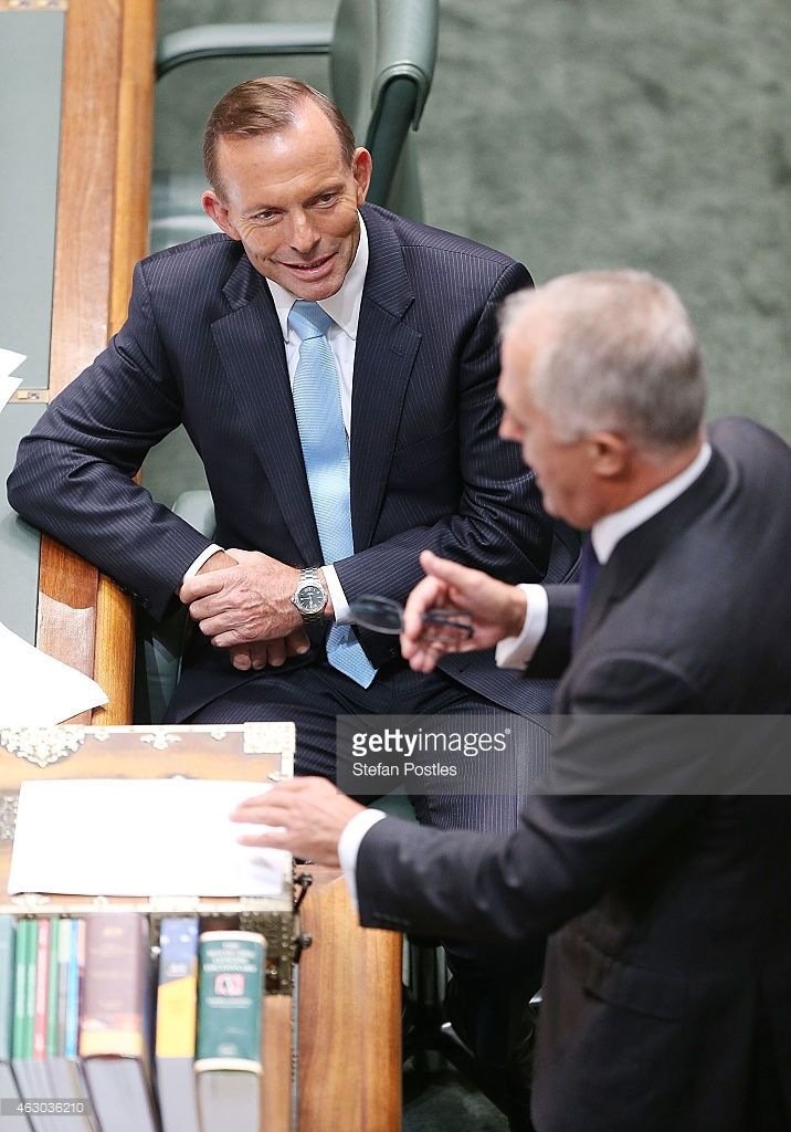 Prime Minister Tony Abbott during House of Representatives question time at Parliament House on February 9, 2015 in Canberra, Australia. Tony Abbott remains Prime Minister of Australia after a spill motion failed at a Liberal party meeting this morning. The motion was defeated, 39 to 61 in favour of Abbott.