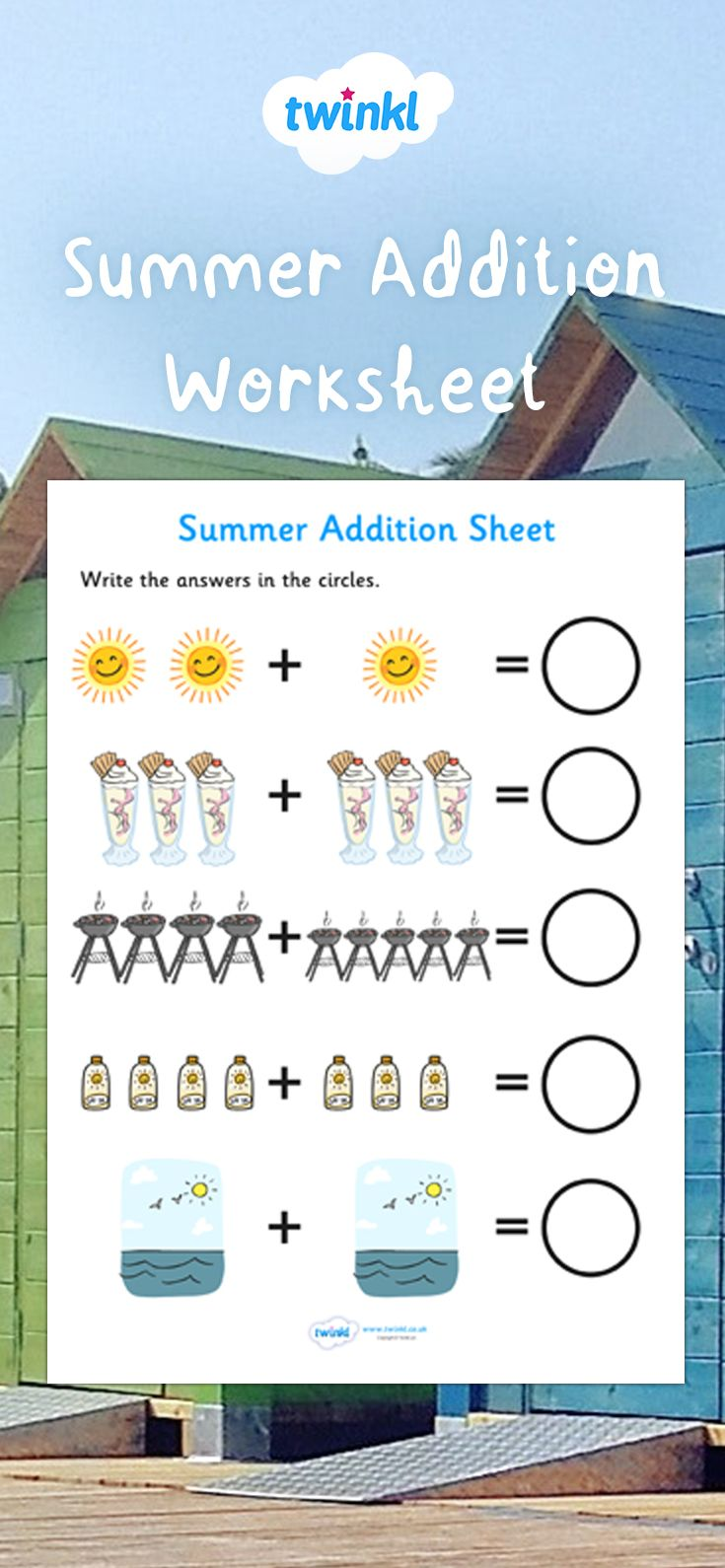 Summer Addition Sheet Teaching Addition Addition Worksheets Free Teaching Resources Addition to worksheets twinkl