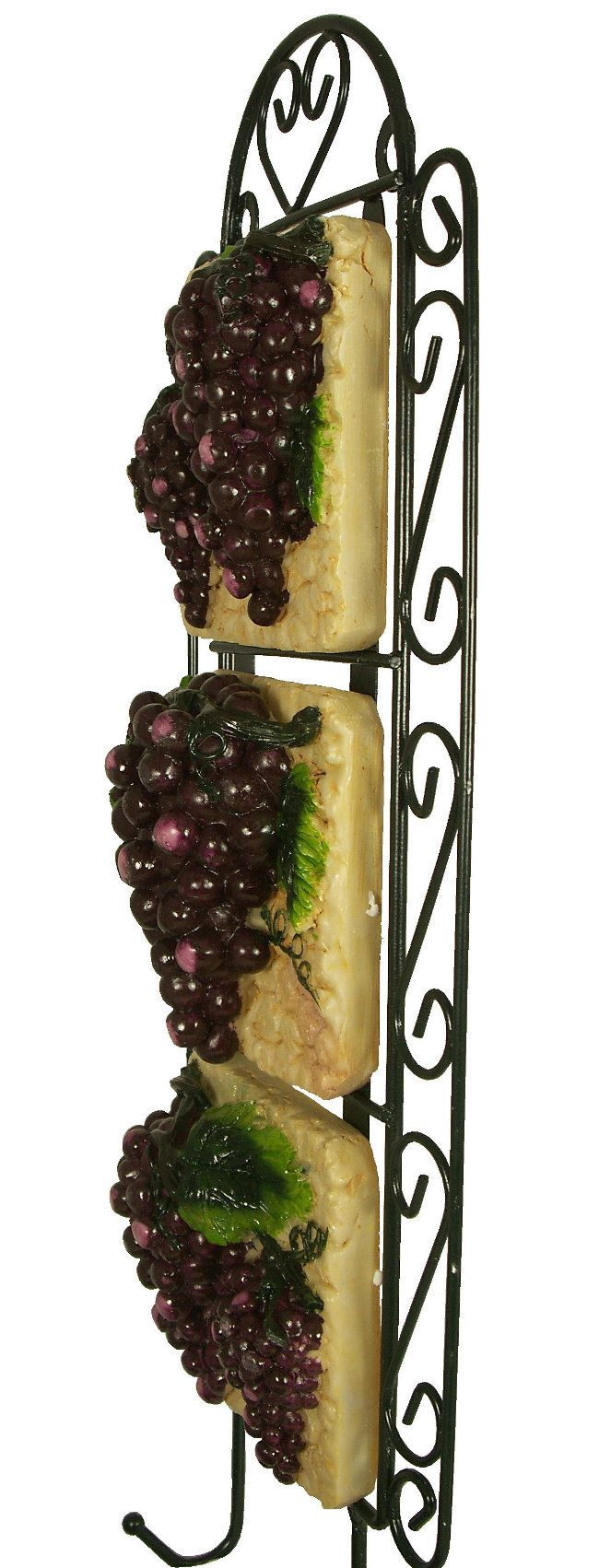 grape kitchen items grape vine wall plaque vineyard fruit iron decor