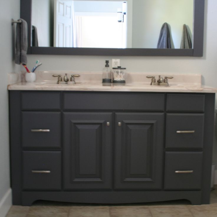 1000 ideas about painting bathroom vanities on pinterest Paint bathroom cabinets