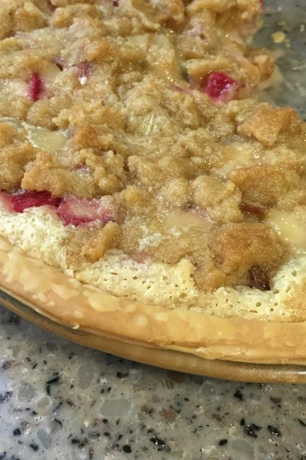 Rhubarb Sour Cream Pie Recipe In 2020 Rhubarb Recipes Layered Dip Recipes Rhubarb Sour Cream Pie Recipe