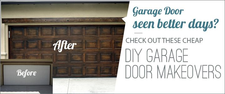 Garage Door Makeovers for Cheap