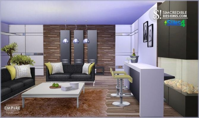 Empire livingroom at simcredible designs 4 sims 4 for Sims 3 living room ideas