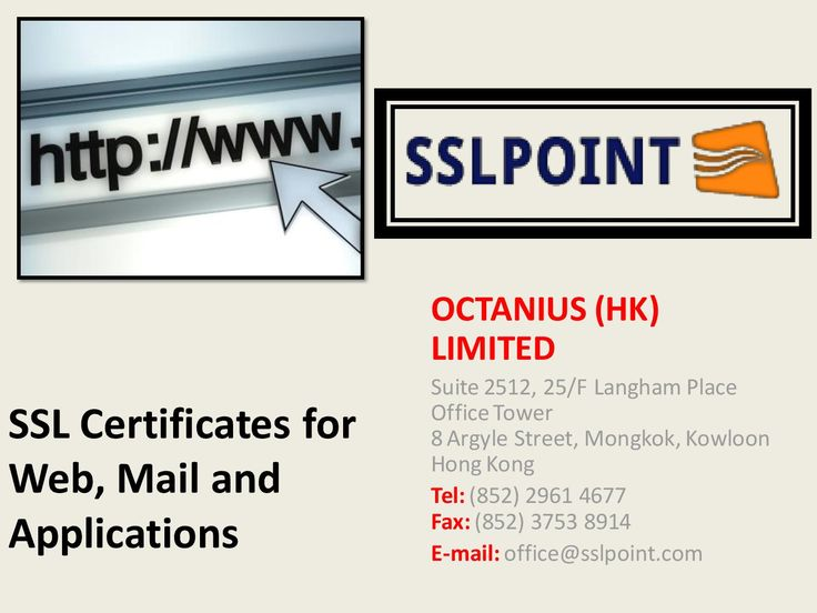 SSL Certificates for Web, Mail and Applications