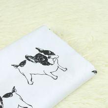 100x140 cm lindo perro tela de sarga de algodón para coser diy trimestre acolchar patchwork muñeca bebé ropa de cama de tela patchwork hecho a mano(China (Mainland))