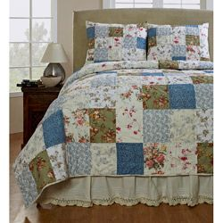 Campanille Handmade Patchwork 3-piece Quilt Set | Overstock.com Shopping - Great Deals on Cottage Home Quilts