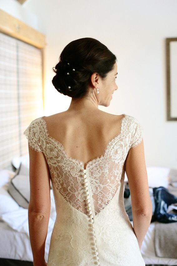 Bride wears Augusta Jones - bespoke