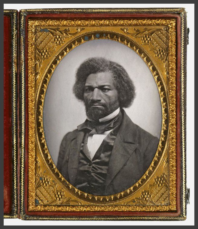 Daguerreotype portrait of ex-slave and American abolitionist Frederick Douglass (Frederick Augustus Washington Bailey