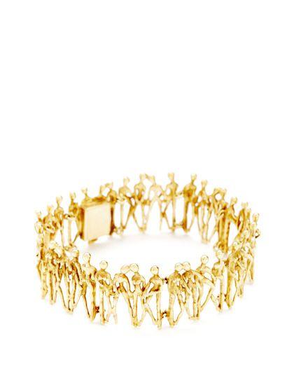 Stuart Devlin Gold People Bracelet by Stuart Devlin at Gilt