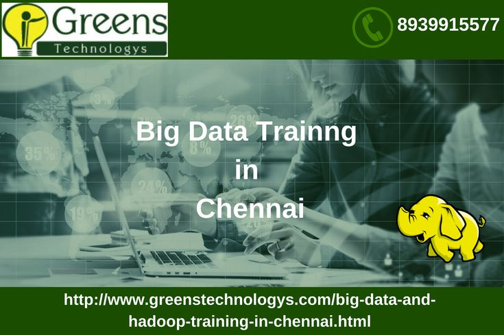 #GreensTechnologys offers #BigDatatraininginChennai with Real-World Solutions from Experienced Professionals on Hadoop 2.7, Yarn, MapReduce, HDFS, Pig, Impala, HBase, Flume, Apache Spark and prepares you for Cloudera's CCA175 Big data certification. For more details call 89399 15577