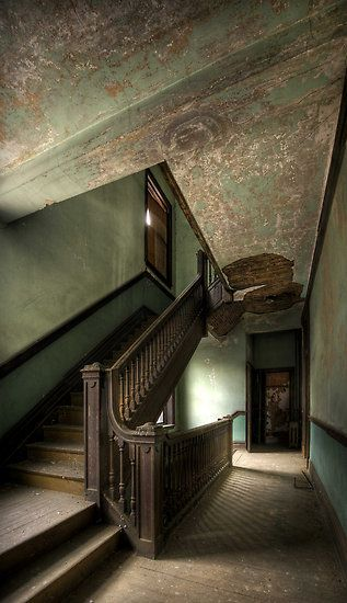 An abandoned boarding house.