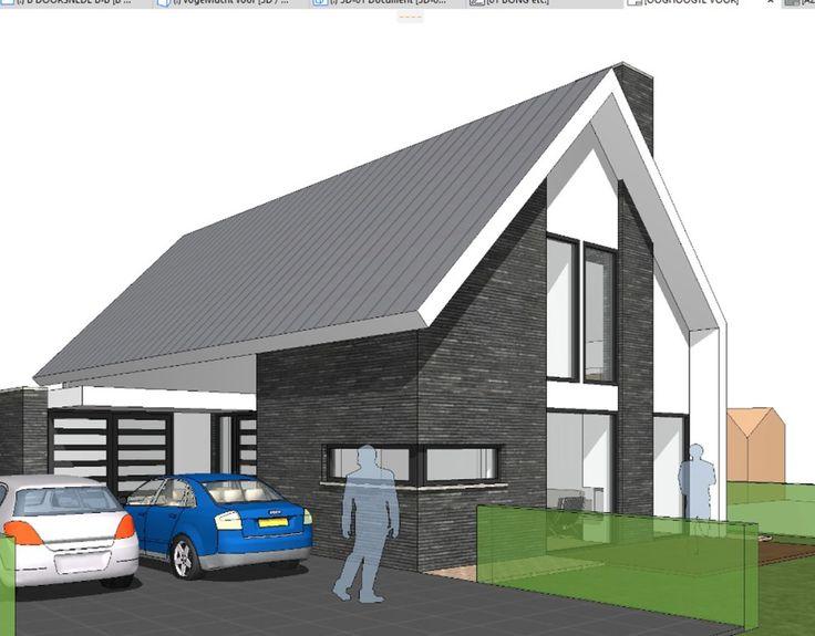 Nieuw ontwerp voor een woonhuis in Delft. Eigentijds vormgegeven met strakke belijningen.