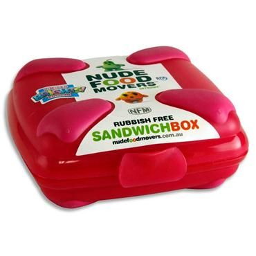 NUDE FOOD MOVER SANDWICH BOX BRIGHT - PINK