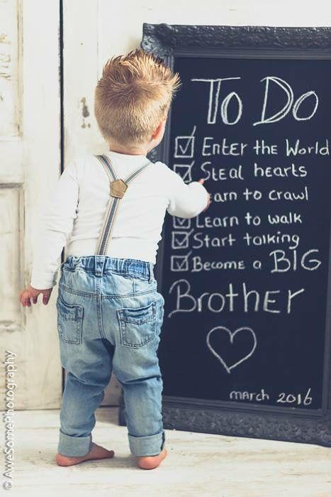 Leuke aankondiging van een grote broer
