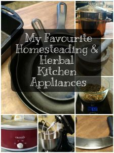 Getting started in scratch cooking or herbalism? Here's a fantastic list of must-have appliances, nice to have appliances, and appliances that just weren't useful at all.