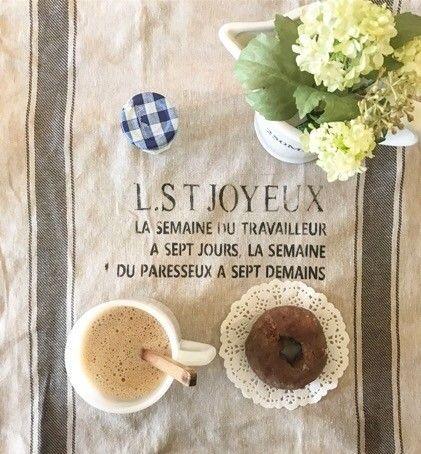 IKEAのリネンクロスにステンシルをして人気のグレインサック風の布を作ってみよう*|LIMIA (リミア)