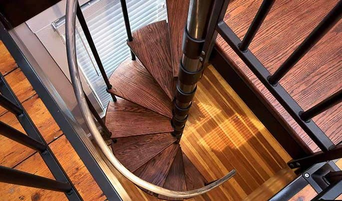 Best The Butler Adjustable Step Height Spiral Stairs Stairs 400 x 300