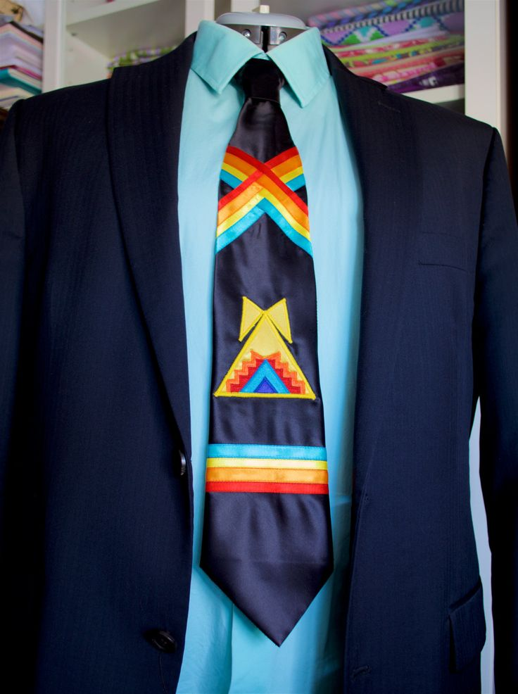 Teepee Applique Necktie by Feral Fawn