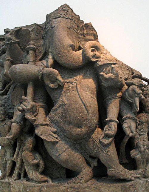 Dancing Ganesha, 900-1000, sandstone. #India, Madhya Pradesh state. Thanks @Johnny Copperstone Copperstone Copperstone Copperstone Copperstone Nightshift