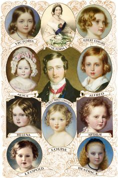 Queen Victoria, Prince Albert and their nine children. Each child made their mark in various ways in spite of their parents.