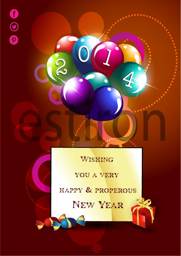 A New Year E- Greeting Card