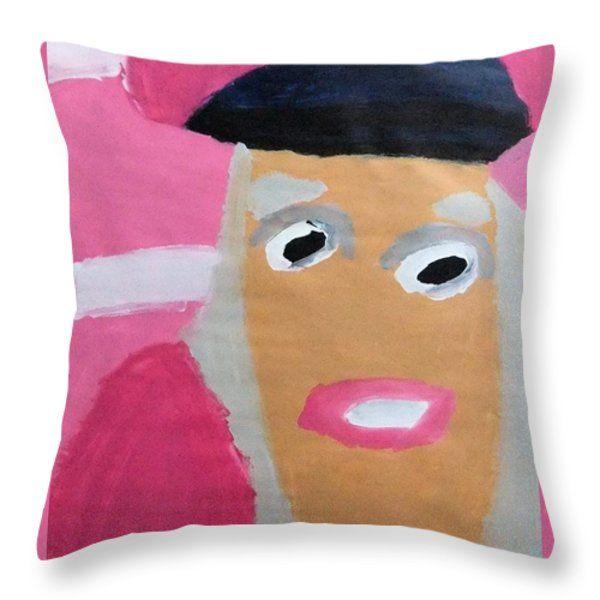 Patrick Francis Throw Pillow featuring the painting Nicki Minaj 2014 by Patrick Francis