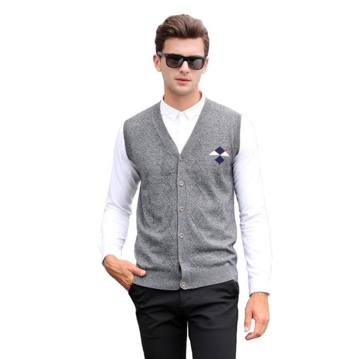 2016 Men's Clothing Autumn and Winter  Male V-neck Wool Woven Casual Business Argyle Pullover Vest Sweater Waistcoat Cardigans //Price: $35.42 & FREE Shipping //     #hashtag1