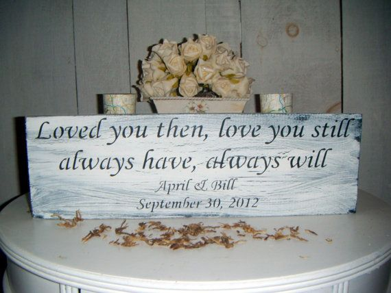 Loved you then, Love you still, Always have, Always will.