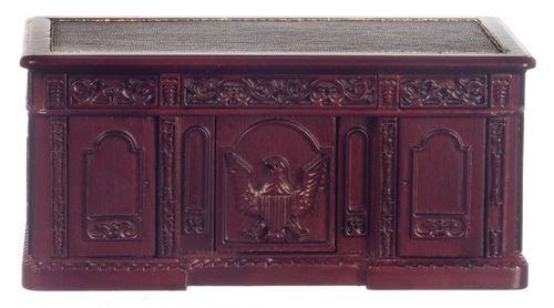 Resolute Desk - Mahogany | Mary's Dollhouse Miniatures