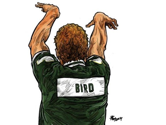 Larry Bird 'Three Point Contest Legend' Illustration