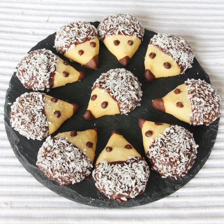 Kreativ bakning! Roliga, spröda & goda mördegskakor i form av igelkottar!