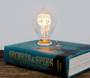 Book Lamp - bet I could make something like this!