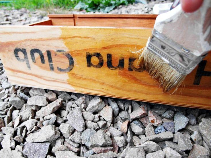 Pot/planter mady by wine box - DIY; Pomysłowy ogród: Donica ze skrzynki na wino - DIY