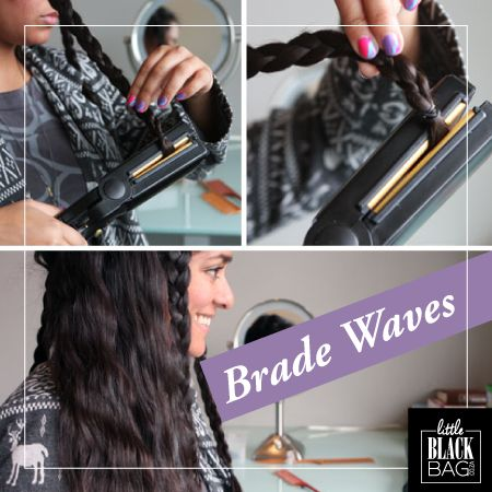 Flat-iron your braids to create long-lasting waves. So quick and looks fab! #lbbcoza