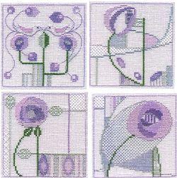 Mackintosh Minuets - Set of 4 Cross Stitch Kits Min13/14/15/16