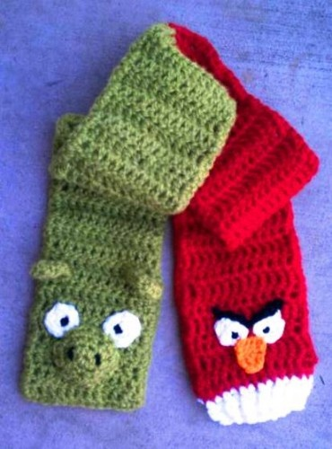 Angry birds scarf