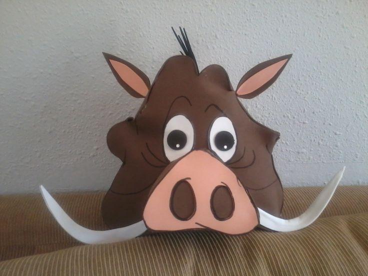 DETALLES FOAM: Mascaras Timón y Pumba