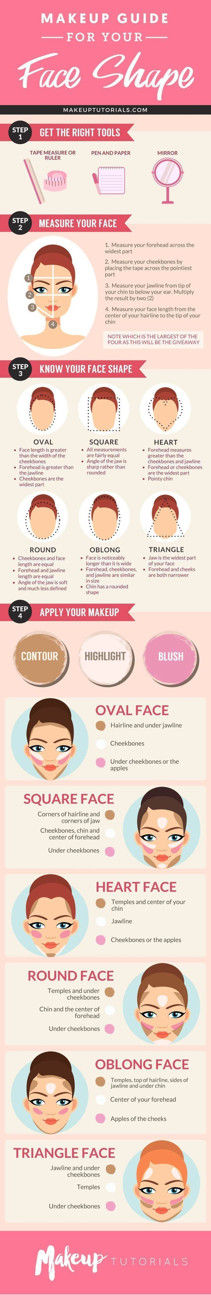 determine your face shape to help you contour highlight awesomeness make up beauty. Black Bedroom Furniture Sets. Home Design Ideas