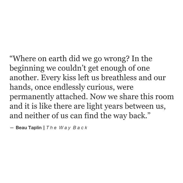 Beau Taplin || The Way Back